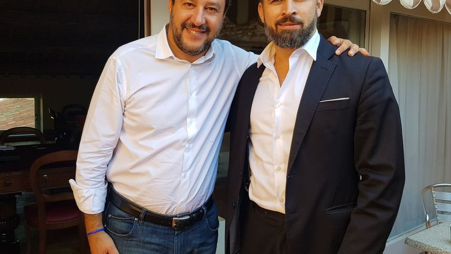 Abascal y Salvini, en Roma en septiembre pasado.