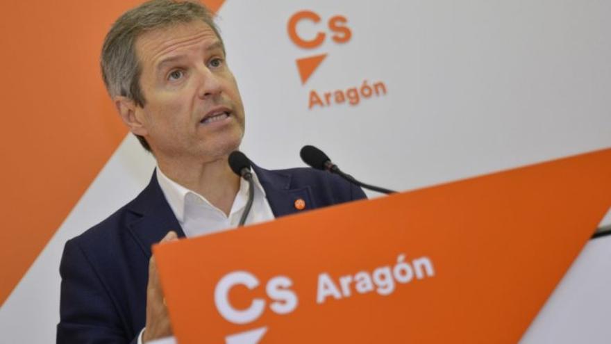 El candidato de Ciudadanos a la Presidencia del Gobierno de Aragón, Daniel Pérez Calvo