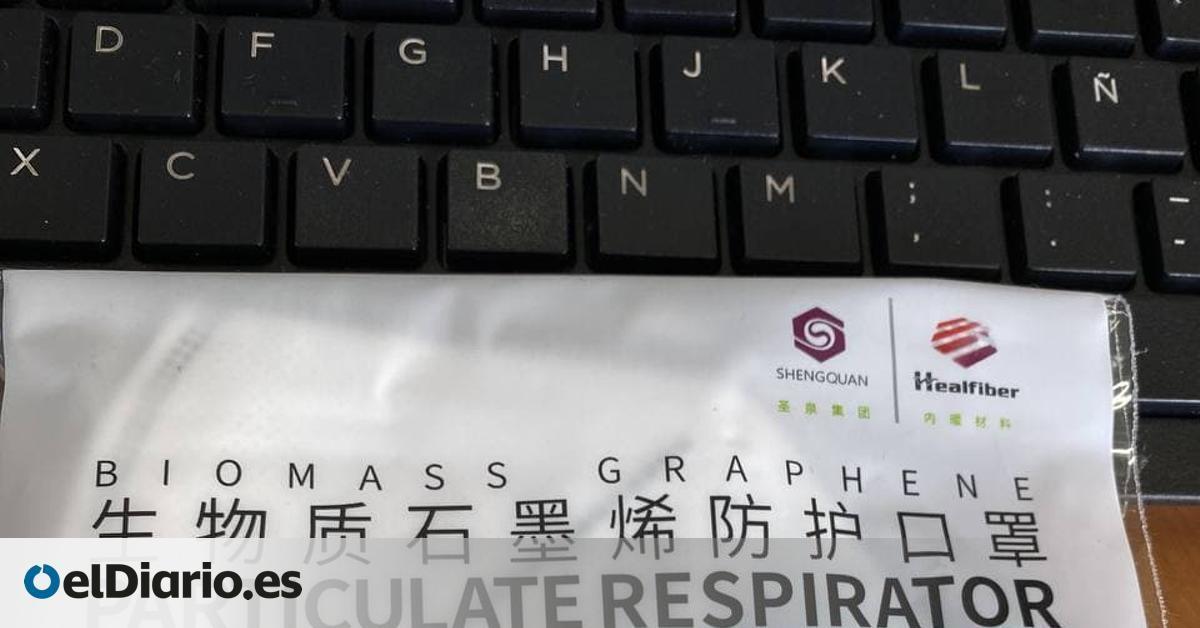 La Agencia Española del Medicamento pide parar la comercialización y el uso de mascarillas con grafeno