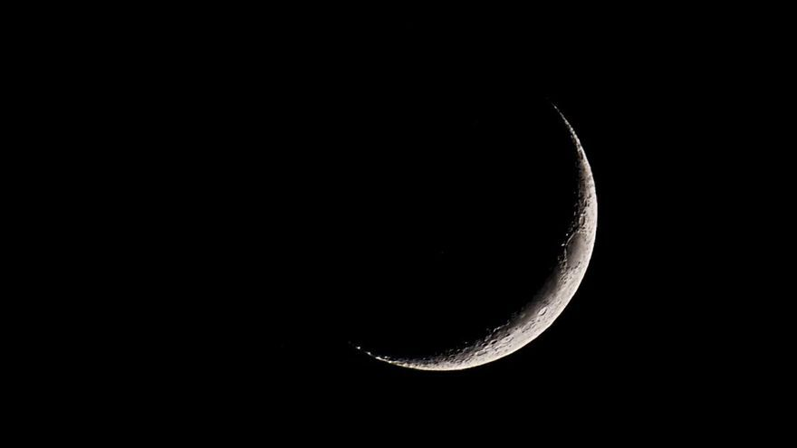 Imagen de archivo de un eclipse total superluna.