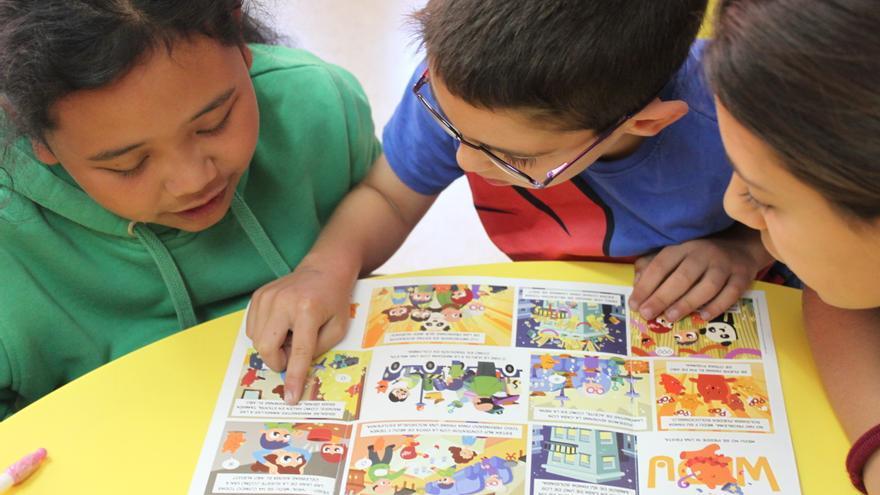 Niños y niñas que participan en el programa Ahora Toca (Cristina Maruri/Ayuda en Acción)