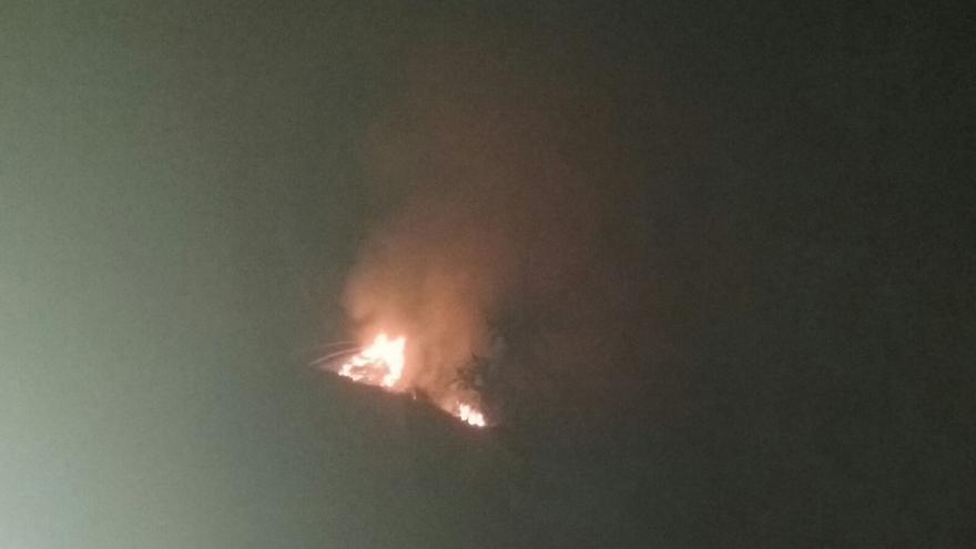 Incendio en Tejeda en la noche del 16 de julio