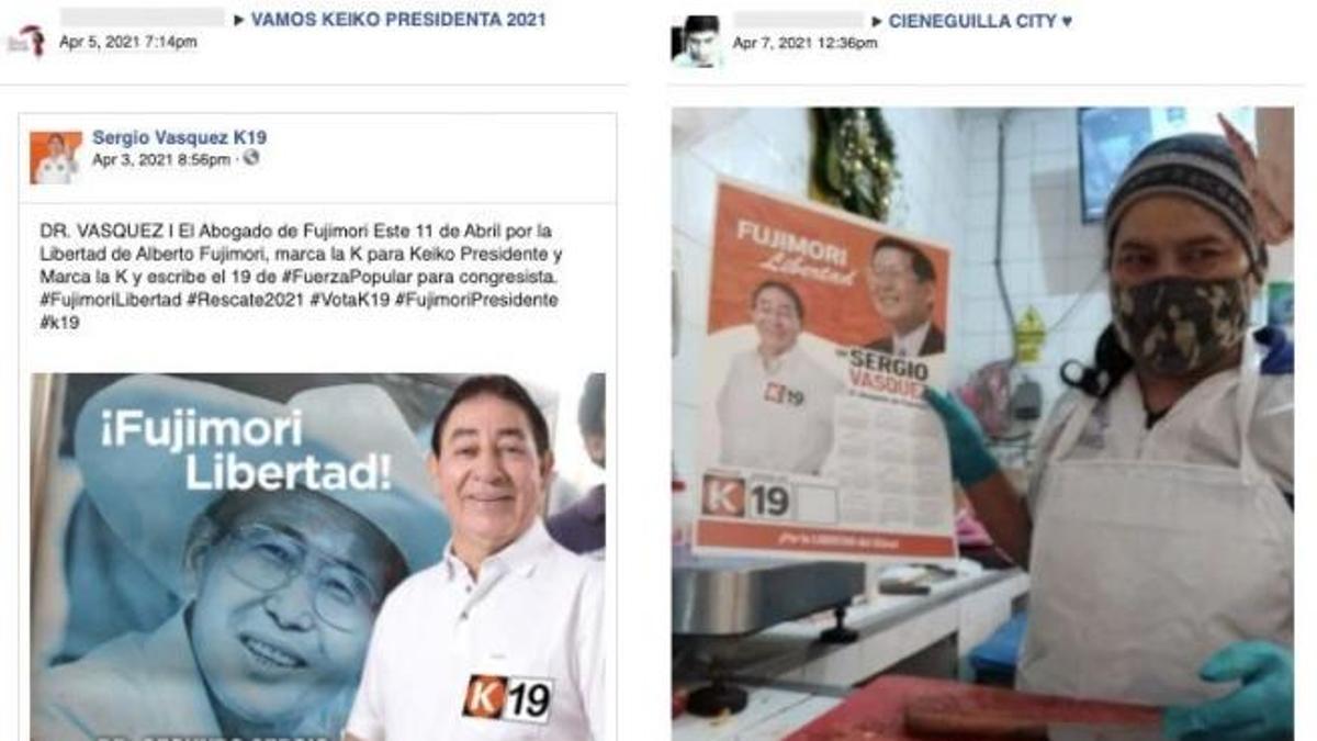 Cuentas falsas que promocionaban a Keiko Fujimori