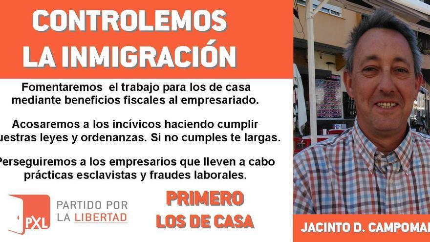 Panfleto repartido por las calles de Almendralejo
