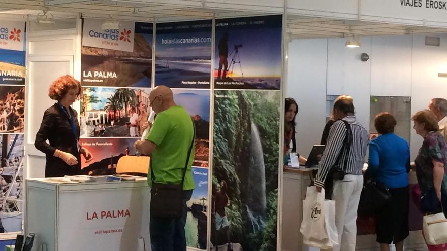 Imagen del stand de La Palma en Aratur (Salón Aragonés de Turismo Zaragoza Mayo 2017).