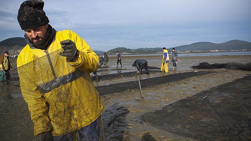 Archivo - Trabajadores del sector pesquero
