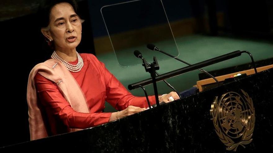 Aung San Suu Kyi habla desde la ONU, esta vez a nombre de su gobierno