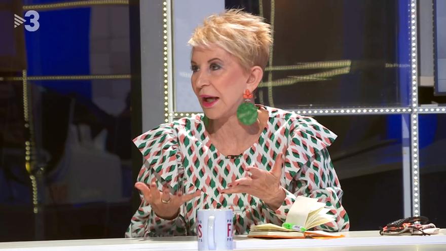 Karmele Marchante, durante su intervención contra Ayuso en TV3