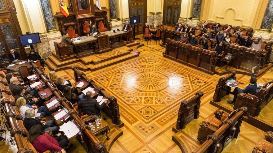 Pleno en el Ayuntamiento de A Coruña