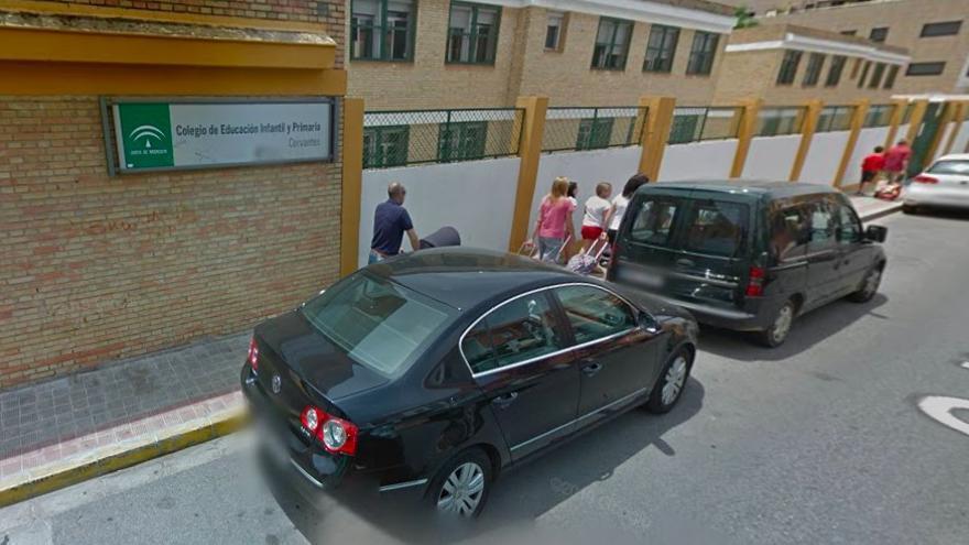 El colegio Cervantes de Dos Hermanas, donde estaba escolarizada la niña.