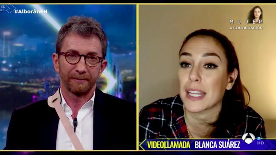 Blanca Suárez, por videollamada en 'El Hormiguero'