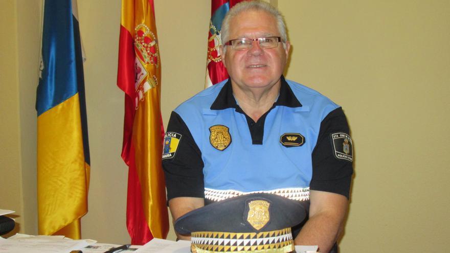 Eduardo Pérez es subinspector jefe de la Policía Local capitalina. Foto: LUZ RODRÍGUEZ