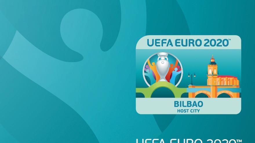 El logotipo de Bilbao como sede de la EURO 2020
