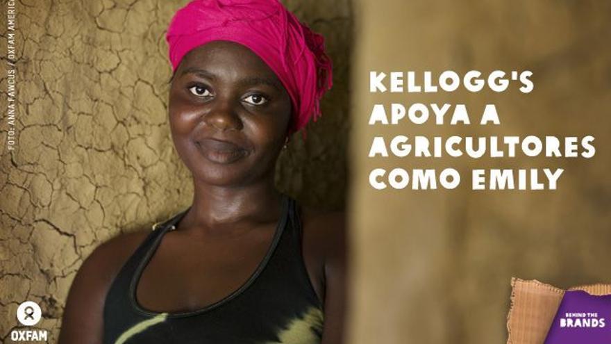 Foto de la campaña Behind The Brands/Oxfam