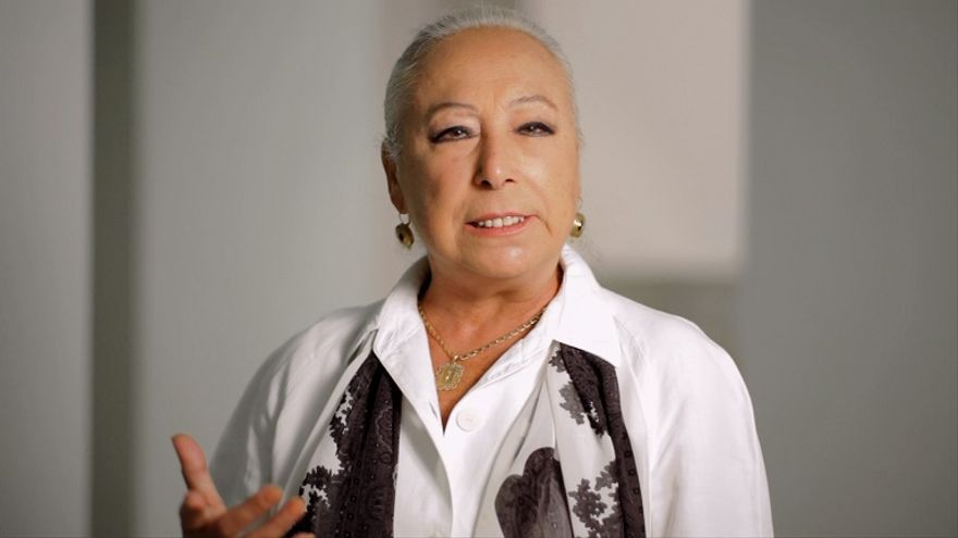 La bailaora Cristina Hoyos durante su participación en el video contra el cierre de la Peña Flamenca Torres Macarena