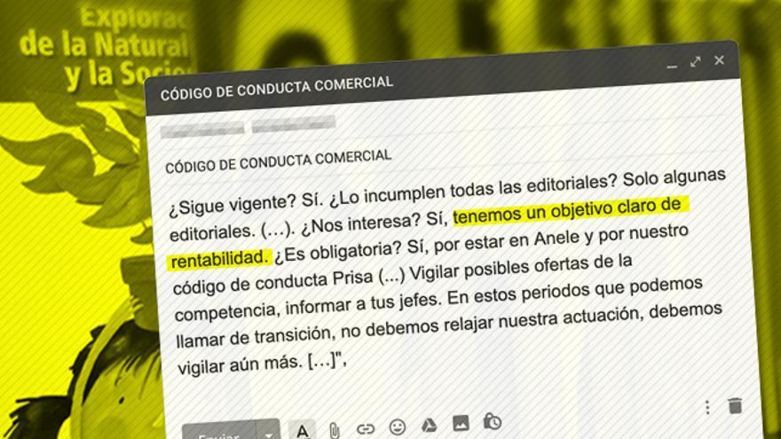 Recreación de un mail recogido en el informe de la Comisión Nacional de los Mercados y la Competencia