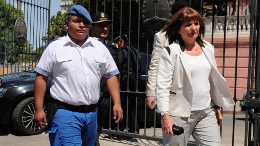 Chocobar junto a Patricia Bullrich, en su visita a la Casa Rosada de febrero de 2018.