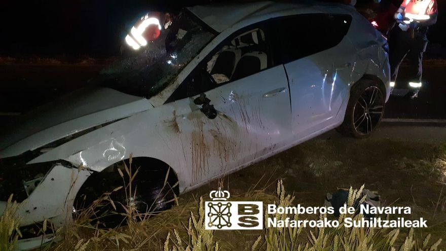 Vehículo accidentado en Murieta