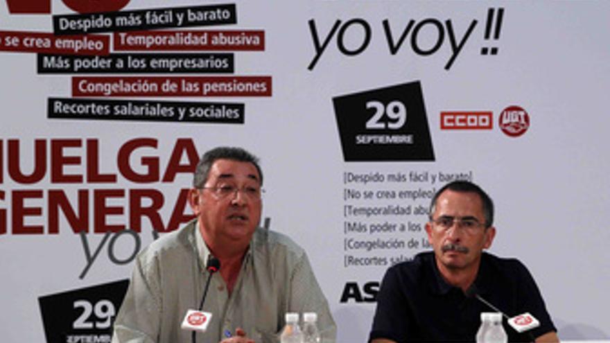 Secretarios de Acción Sindical de CC.OO. y UGT, Ramón Górriz y Toni Ferrer,