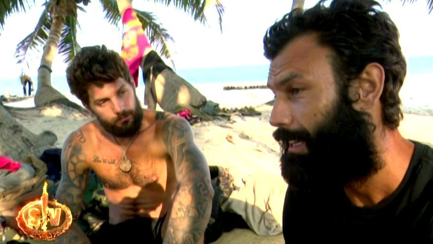 Albert Barranco y Jorge en 'Supervivientes'