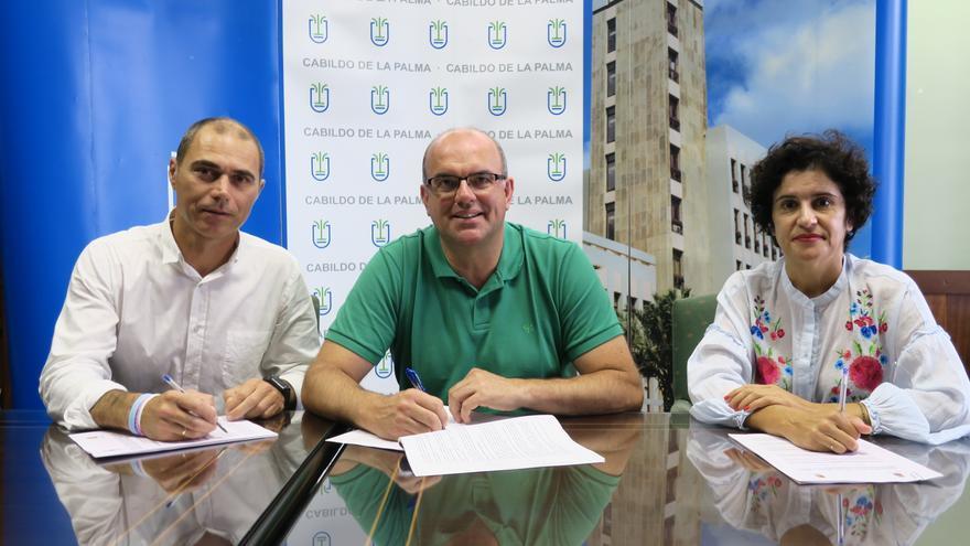 José María Pestana, Anselmo Pestana y Jovita Monterrey.