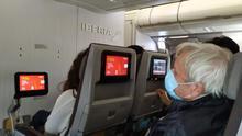 Imagen del vuelo de repatriación entre Montevideo y Madrid.