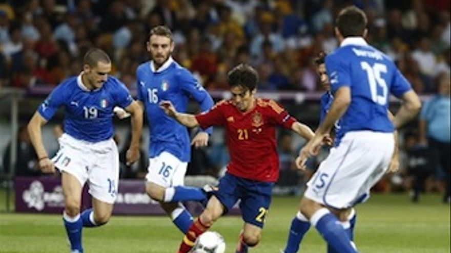 Silva, durante la disputa de la final de la Eurocopa. (rfef.es)