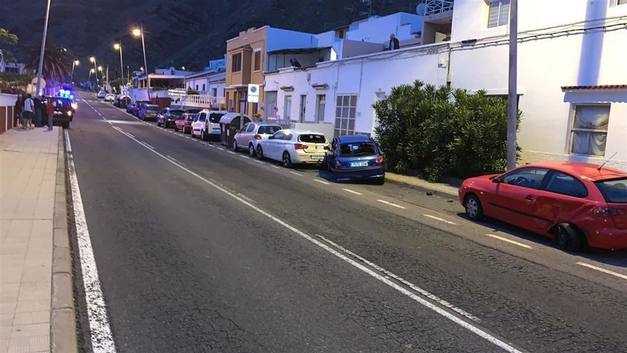Imagen del accidente proporcionada por la Policía Local de La Laguna