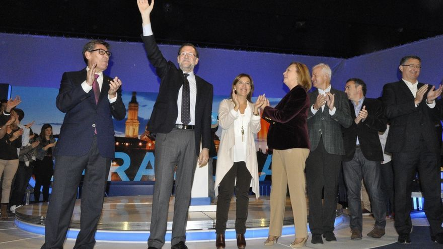 Rajoy carga contra Ciudadanos en Zaragoza para frenar su avance en Aragón a costa del PP