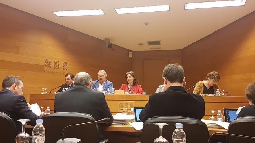 Alfonso Rus comparece en una comisión de las Corts Valencianes.