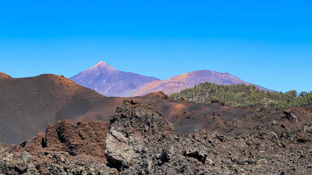 El Pico del Teide desde El Chinyero.