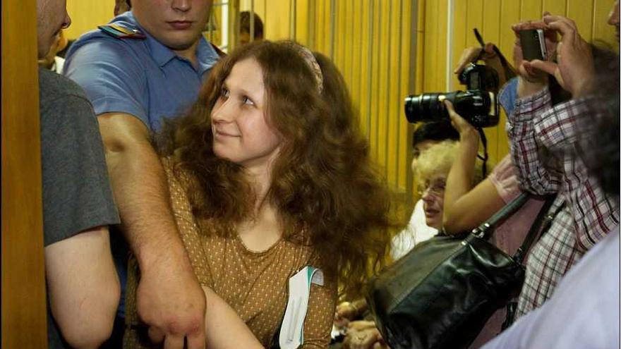 Masha Alekina, una de las Pussy Riot, durante el juicio en Moscú el 20 de junio de 2012 © Denis Bochkarev