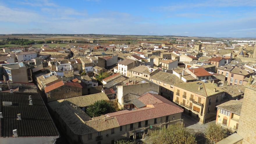 Olite, vista desde la iglesia de San Pedro.