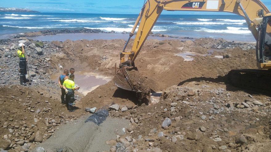 Finalizadas las obras de reparación del emisario de Bocabarranco (AYUNTAIENTO DE GÁLDAR)