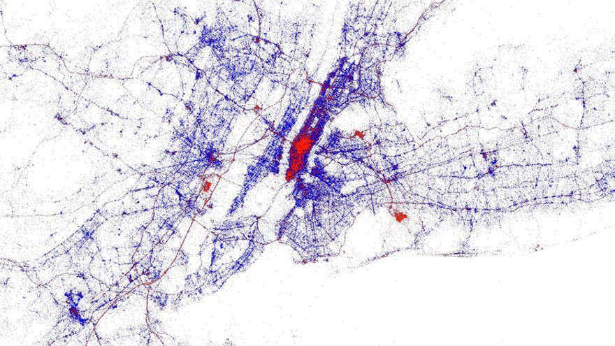 MapBox: lo rojo son turistas