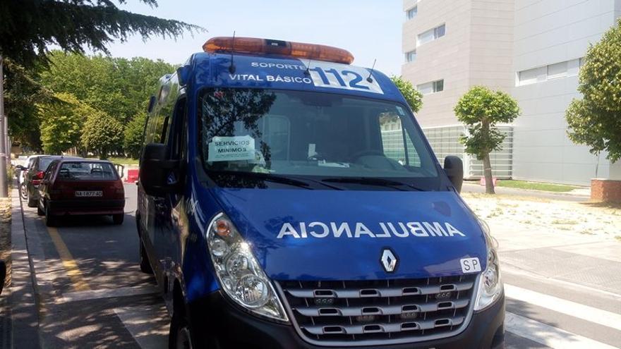 Ambulancia de Baztán Bidasoa, concesionaria del transporte sanitario en Pamplona.