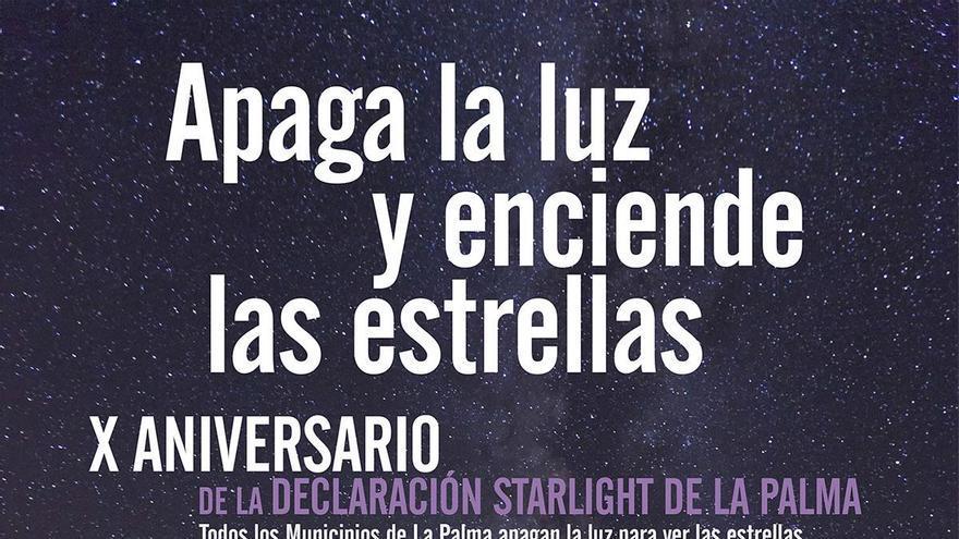 Cartel de la iniviativa 'Apaga la luz y enciende las estrellas'.