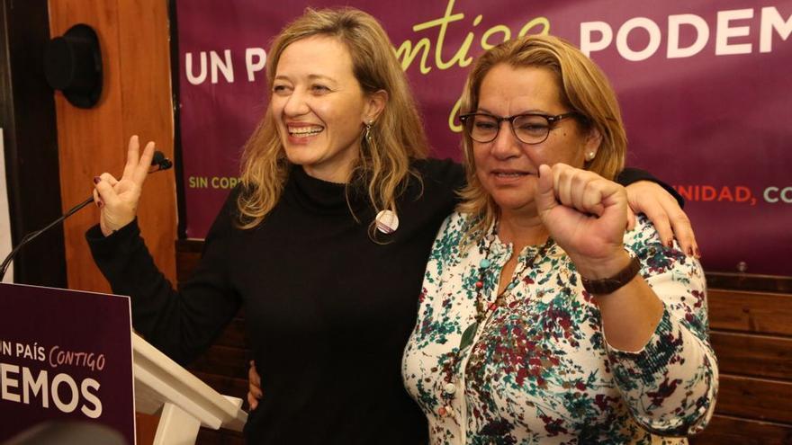 Las candidatas de Podemos Victoria Rosell y Meri Pita obtienen representación en el Congreso.