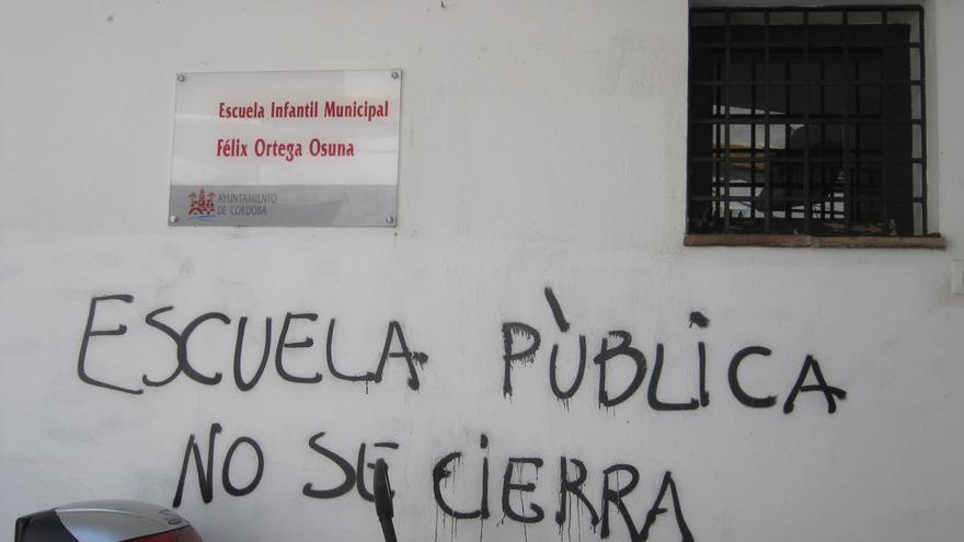 La única escuela municipal infantil del Córdoba está al borde del cierre