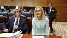 La expresidenta Cristina Cifuentes y el actual presidente, Ángel Garrido.