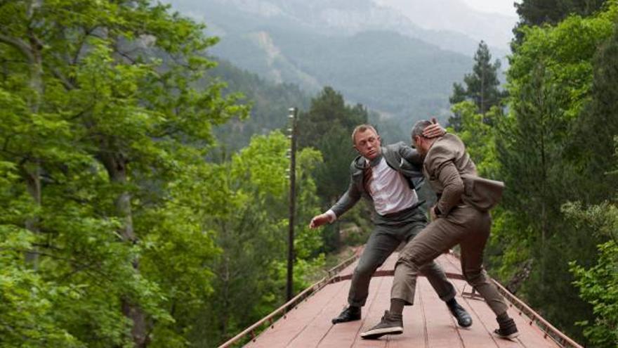 Una de las escenas de acción más complejas de la película 'skyfall' de la saga de James Bond