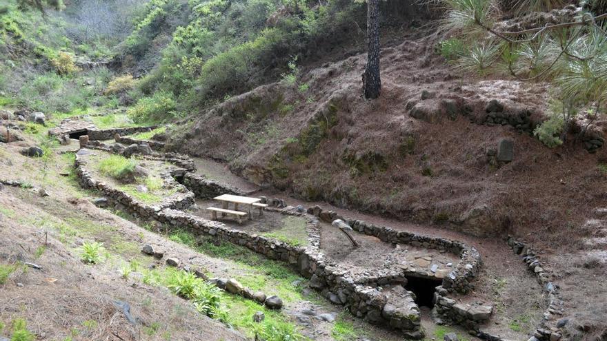 En la imagen, entorno rehabilitado por la Unidad de Medio Ambiente del Cabildo de La Palma.