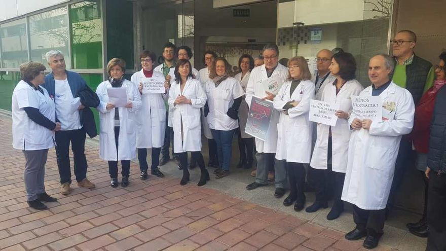 Protesta de médicos en Albacete