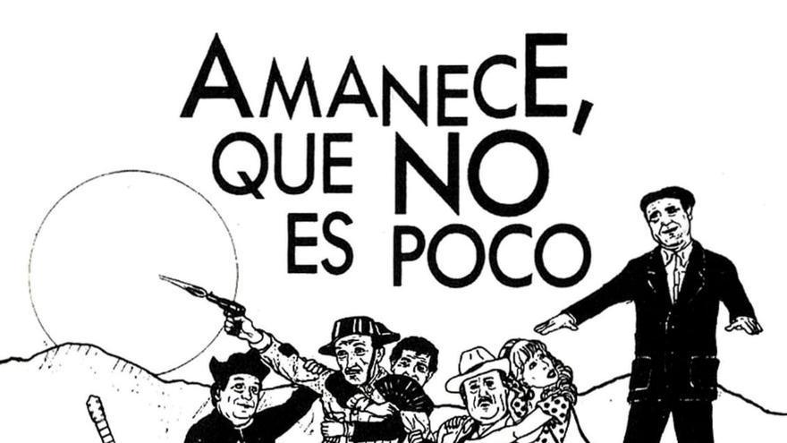Cartel de homenaje a 'Amanece, que no es poco'