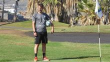 López Garai, durante un entrenamiento en el Tenerife Top Training