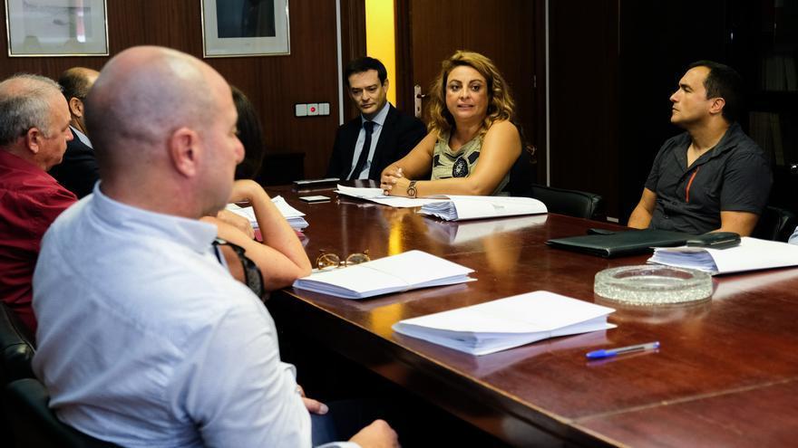 Cristina Valido, en el acto de presentación de los funcionarios del Estado desplazados a Canarias con tal fin