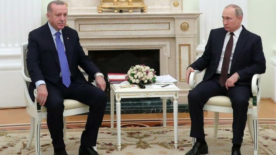 Erdogan espera que su reunión con Putin ayude a solucionar la crisis en Idlib