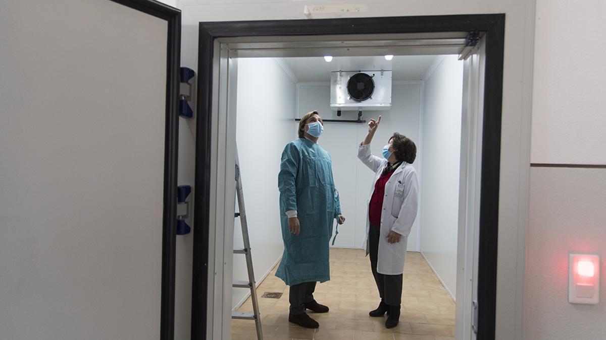 El delegado de Gobierno de la Junta, Antonio Repullo visita el Centro de Transfusión de Sangre