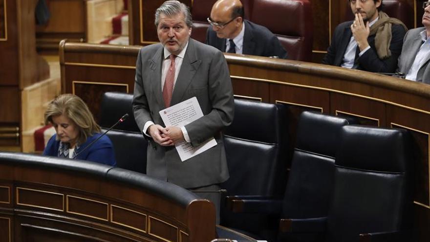 El ministro de Educación, Cultura y Deporte, Íñigo Méndez de Vigo, interviene en el Congreso de los Diputados