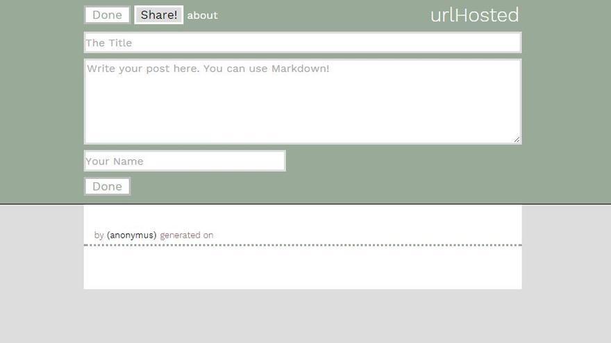 El editor de urlHosted, el primer paso para almacenar la web en una dirección web